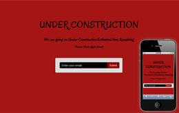 Estimated Under Construction Web and Mobile Template Mobile website template Free