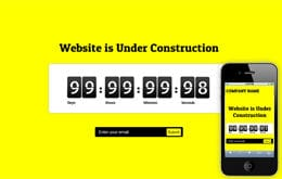 Website Under Construction Web and Mobile Template for Free Mobile website template Free