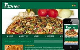 Free Pizza Hut web template and mobile website template for food corners Mobile website template Free