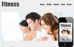 New Fitness Web template and mobile website template for free Mobile website template Free