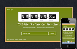 Free Wood Frame Under Construction web and mobile website template Mobile website template Free