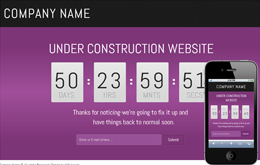 franze under construction web and mobile template for free Mobile website template Free