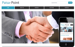 Paisa Point web and mobile website template for free Mobile website template Free