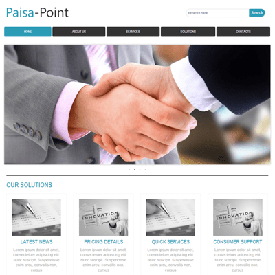 paisa point web and mobile website template for free by