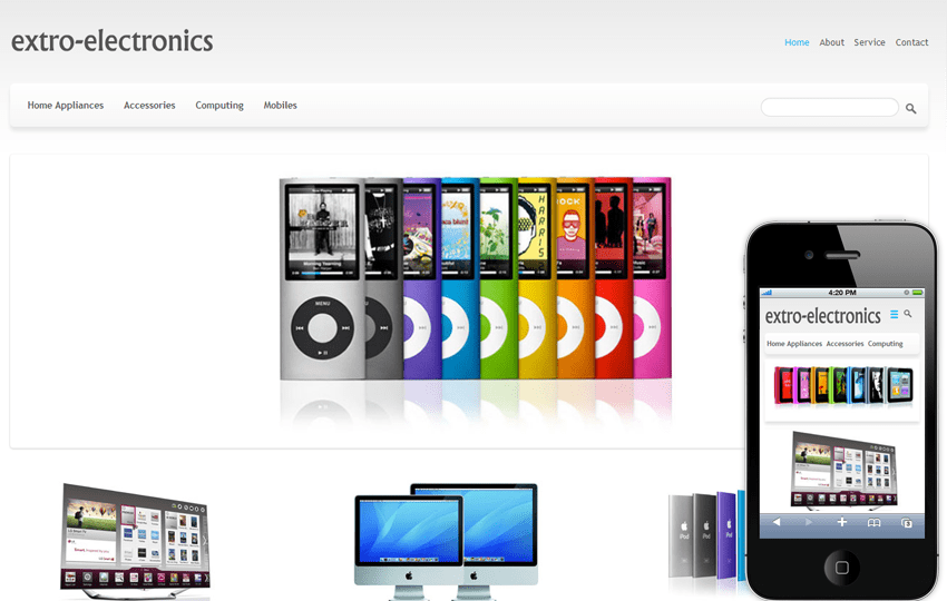extro electronics e commerce online shopping mobile website
