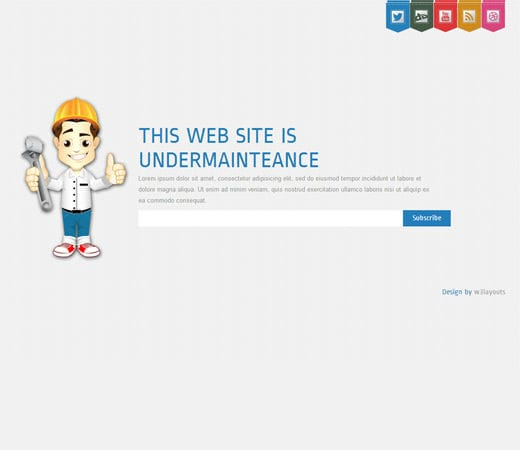 maintenance mode html template - site under maintenance template free design 2018