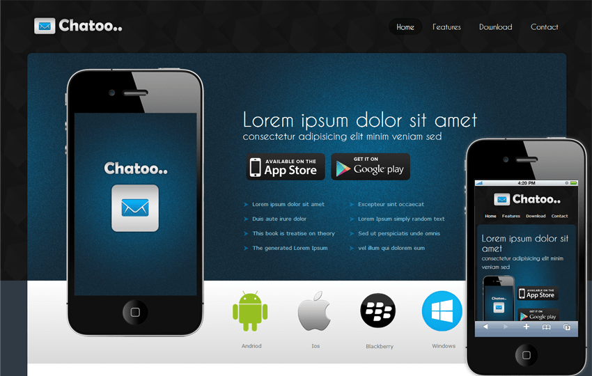 mobile app site template koni polycode co
