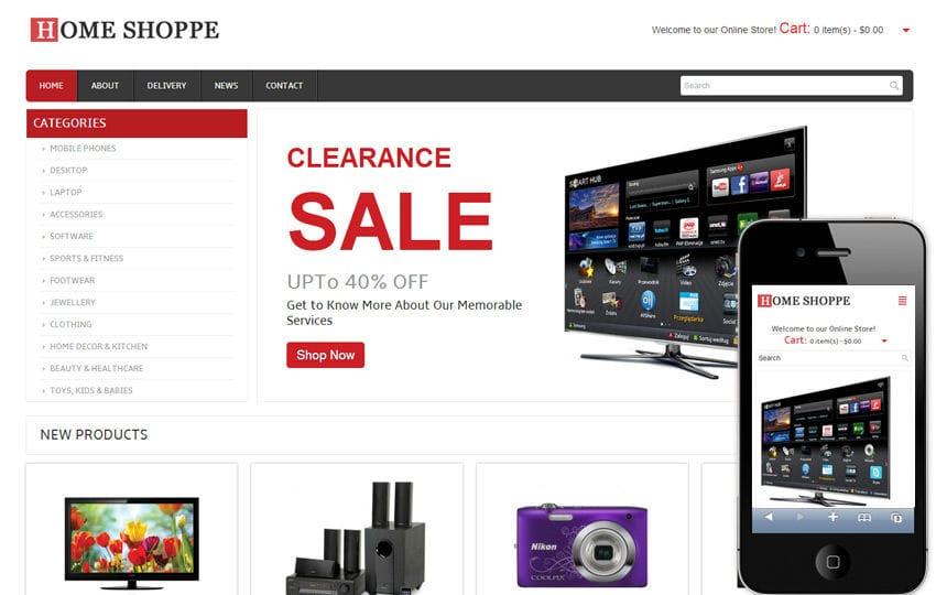 Ecommerce online shopping mobile website templates for Shop on line mobili