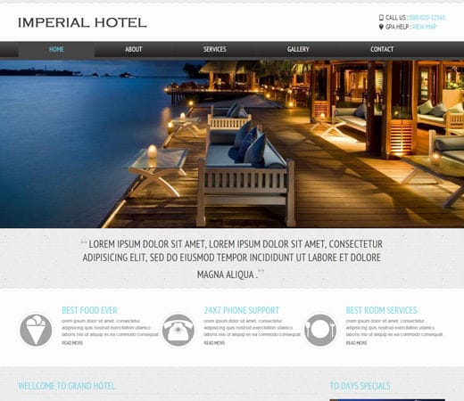 mobile site template free download - hotel download small house plans modern