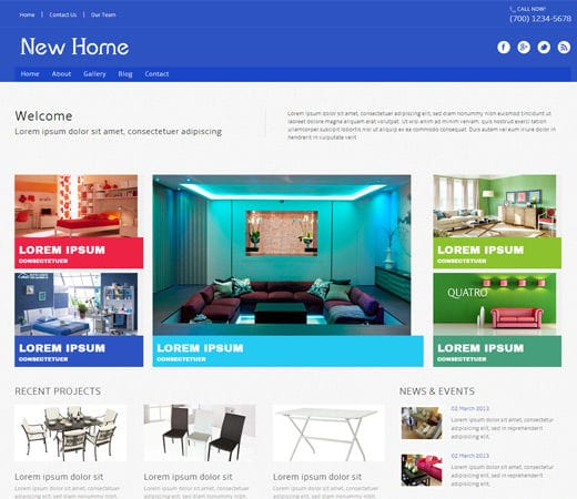 Home Interiors Website: New Home A Interior Architects Mobile Website Template By