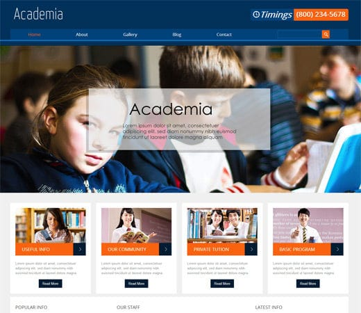 Free download academia education mobile website template for Mobile site template free download