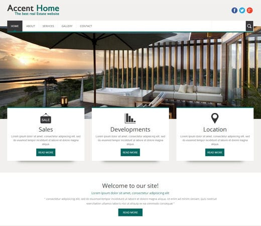 Accent Home A Real Estate Mobile Website Template By W3layouts