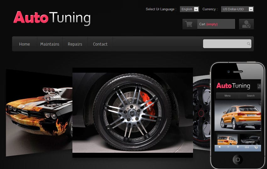 auto tuning automobile mobile website template by w3layouts. Black Bedroom Furniture Sets. Home Design Ideas