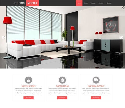 Free Website Template CSS HTML5 Interior Module A Interior Architects