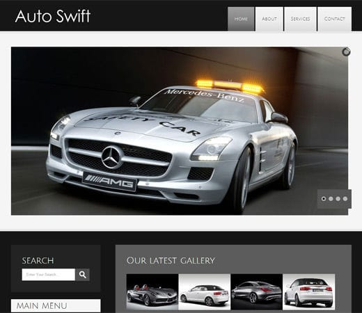 Auto Swift Automobile Mobile Website Template By W3layouts