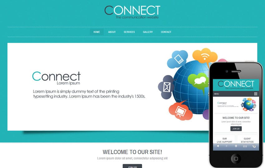 Connect corporate business mobile website template by w3layouts connect corporate business mobile website template wajeb