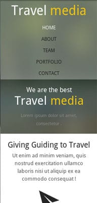 Mobile website Template Travel Media – A Travel Guide Mobile Website Template
