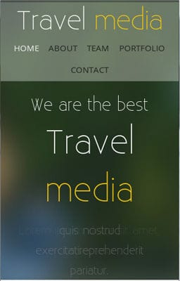 Free Iphone Smartphone web template Travel Media – A Travel Guide Mobile Website Template