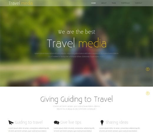Free website template CSS HTML5 Travel Media – A Travel Guide Mobile Website Template