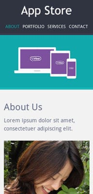 Mobile website Template Appstore Responsive Mobile website template