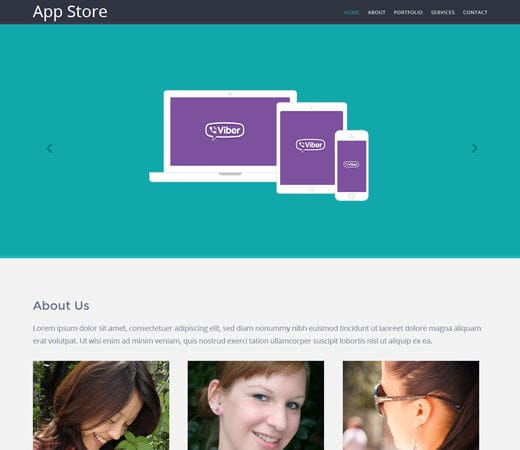 Free website template CSS HTML5 Appstore Responsive Mobile website template
