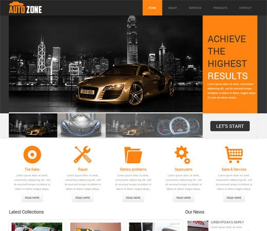 Free download autozone mobile website template fptemplates for Mobile site template free download
