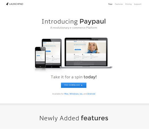 Free website template CSS HTML5 Launchpad Product Service Launch Responsive web Template