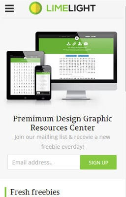 Free Iphone Smartphone web template Limelight Download Gallery Responsive Website Template