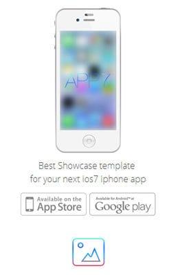 Free Iphone Smartphone web template iOS7 App Responsive Landingpage web template