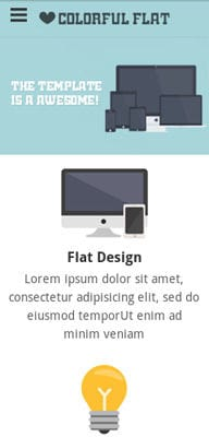 Mobile website Template Flat Single Page Responsive web template