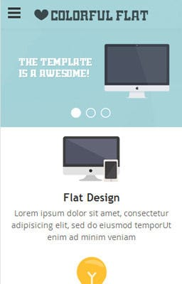 Free Iphone Smartphone web template Flat Single Page Responsive web template