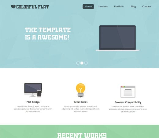 Free website template CSS HTML5 Flat Single Page Responsive web template