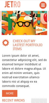 Mobile website Template Jetro Flat Corporate Responsive website template