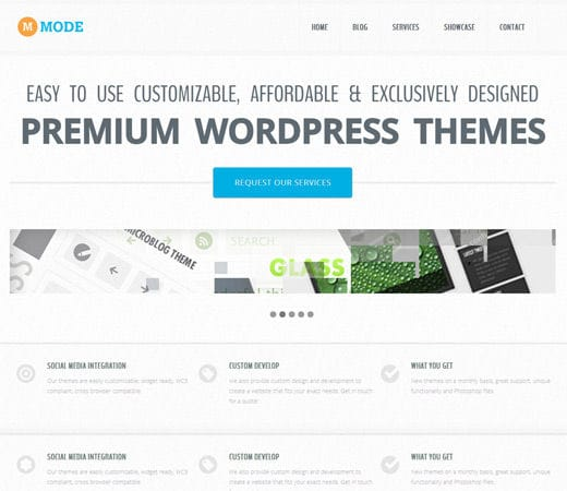 Free website template CSS HTML5 Mode Corporate Flat Responsive web template