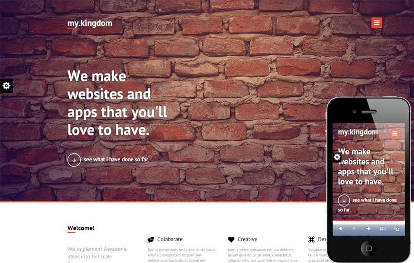 My Kingdom Minimalistic – A Flat Corporate Responsive Web Template