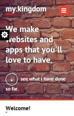 Free Iphone Smartphone web template My Kingdom Minimalistic – A Flat Corporate Responsive Web Template