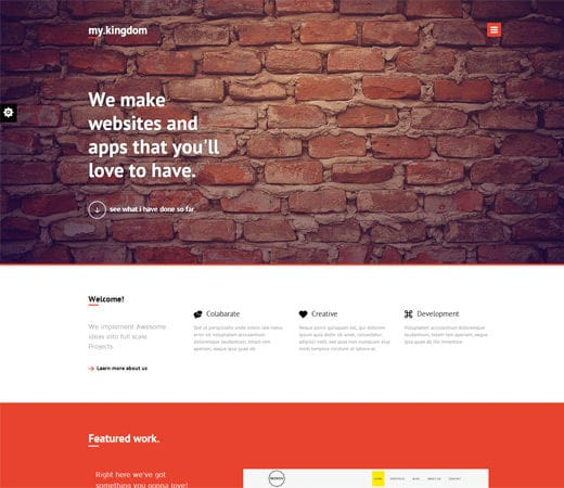 Free website template CSS HTML5 My Kingdom Minimalistic – A Flat Corporate Responsive Web Template