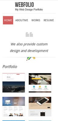 Mobile website Template Webfolio – A Flat Responsive website template