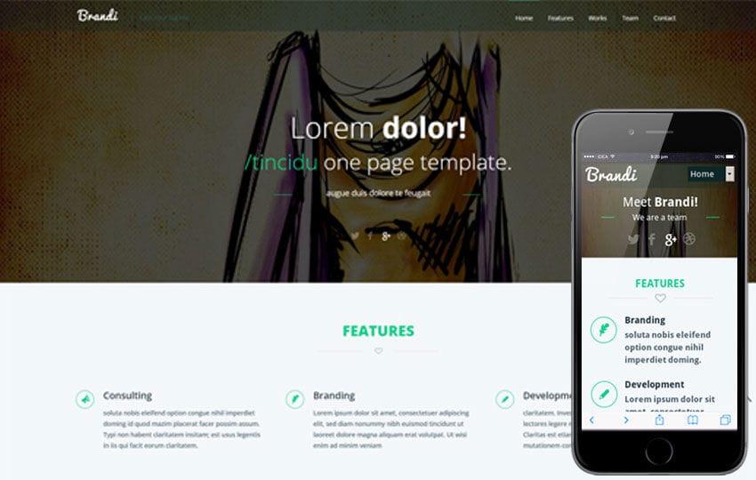 Brandi Corporate Flat Responsive web template