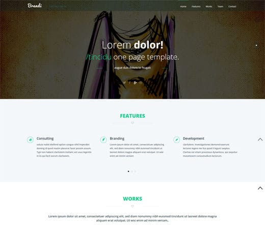 Free website template CSS HTML5 Brandi Corporate Flat Responsive web template