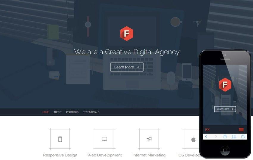 Flat Style Multipurpose Flat Responsive web template Mobile website template Free
