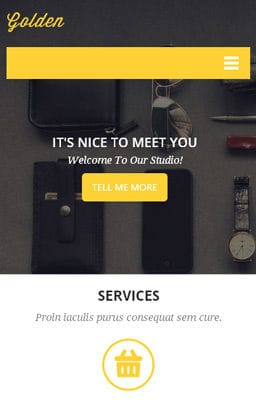 Free Iphone Smartphone web template Golden a Corporate Flat Responsive web template