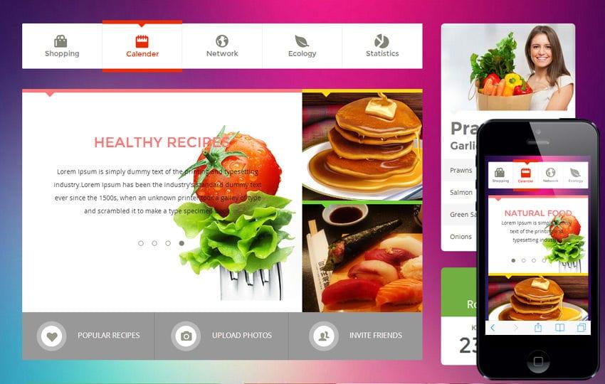 ... flat responsive mobile web template mobile website template Success