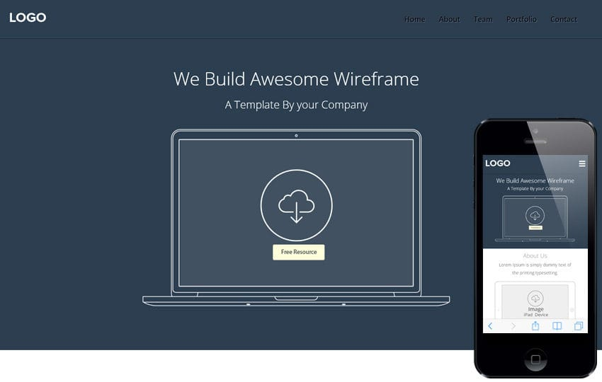 Web Wireframe a Flat Responsive web template by w3layouts