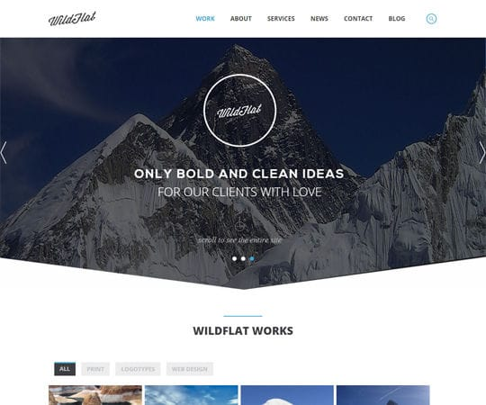Free website template CSS HTML5 WildFlat a Corporate Flat Responsive web template