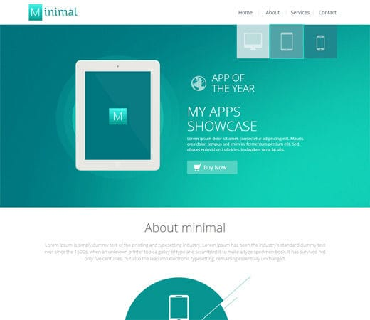 Minimal A Flat Style Bootstrap Responsive Web Template By