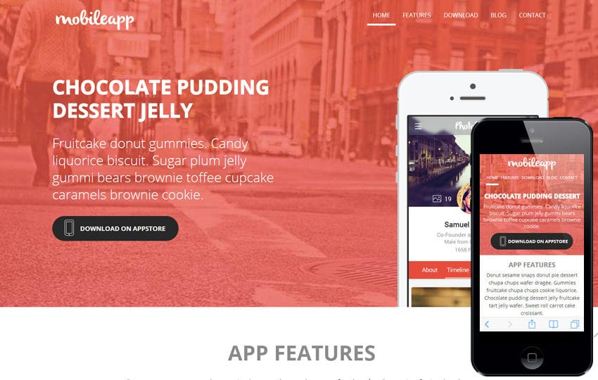Mobileapp A App Based Flat Bootstrap Responsive Web Template By