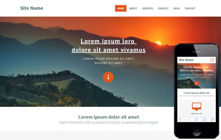 SiteName a Corporate Portfolio Flat Bootstrap Responsive web template Mobile website template Free