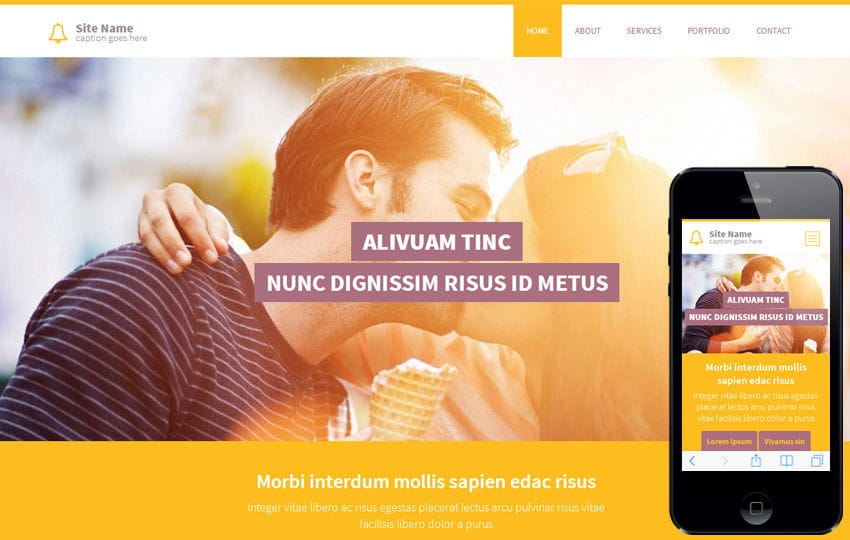 Yellow a Corporate Business Flat Bootstrap Responsive web template Mobile website template Free