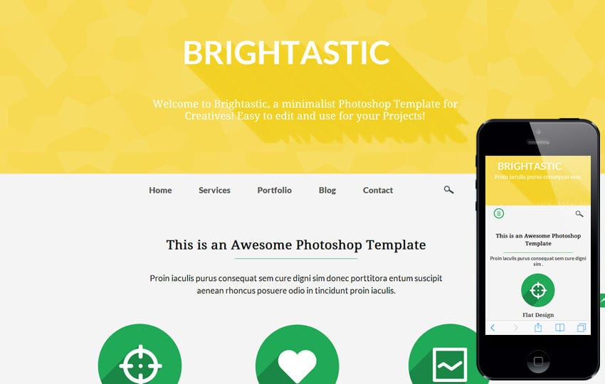 Brightastic a Personal Portfolio Flat Bootstrap Responsive Web Template Mobile website template Free